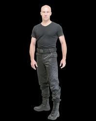 pantalon treillis noir sécurité intervention déperlant antistatique gk pro - Voir en grand