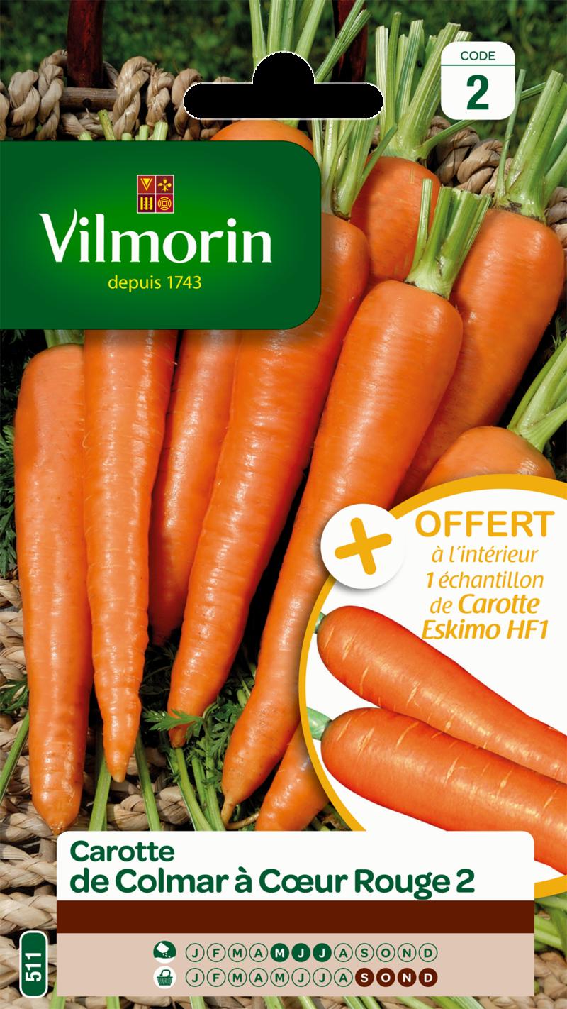 carotte de colmar a coeur rouge 2 vilmorin graine semence potager sachet semis - Voir en grand