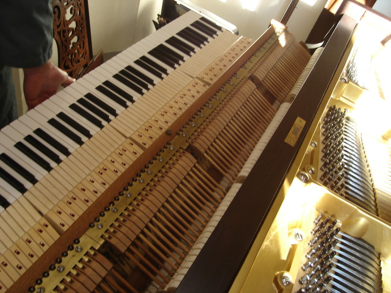 mécanque clavier pleyel Queue restaurés - Voir en grand
