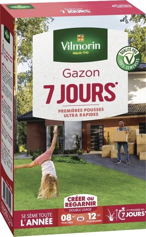 gazon sept jours ultra rapide vilmorin pelouse graine semence boite - Voir en grand