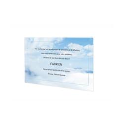 ciel de nuages,  carte remerciement décès, Carte condoléances, Ciel nuagueux, amalgame printGrenoble - Voir en grand