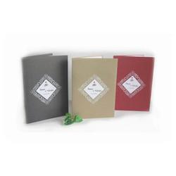 Faire-part mariage, papier Irisé, cadre triangulaire  ajouré, amalgame print grenoble - Voir en grand