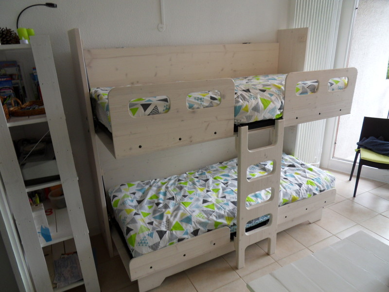 lit superpose escamotable 10 vercors literie. Black Bedroom Furniture Sets. Home Design Ideas