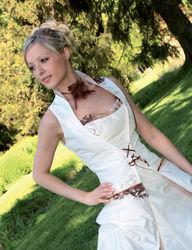Robe de mariée modulable gourmandise détail devant - Voir en grand