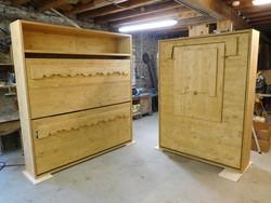 ensemble lit relevable - Lit relevable, lit armoire - VERCORS LITERIE  - Voir en grand