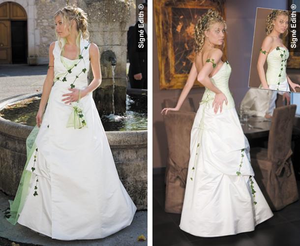 Robe de mariée modulable LIERRE Grenoble - Les robes de mariée avec bustier - Création Signé Edith  - Voir en grand