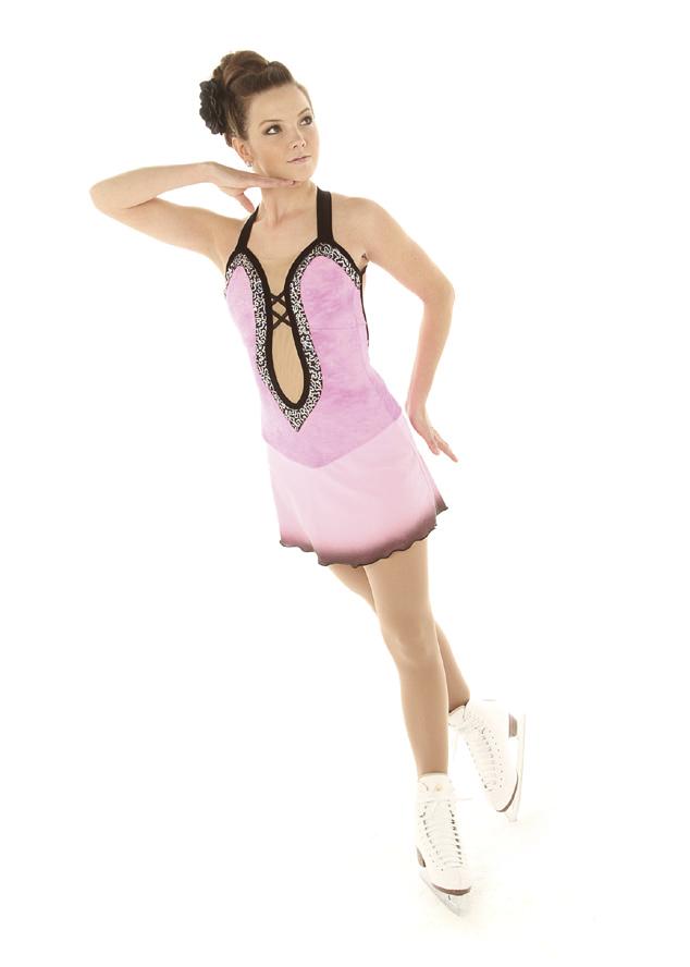 Tunique de Patinage sur Glace Elite Xpression Ref 10121319 - ARTISTIQUE - GREEN et GLACE Patinage et sportwear - Voir en grand