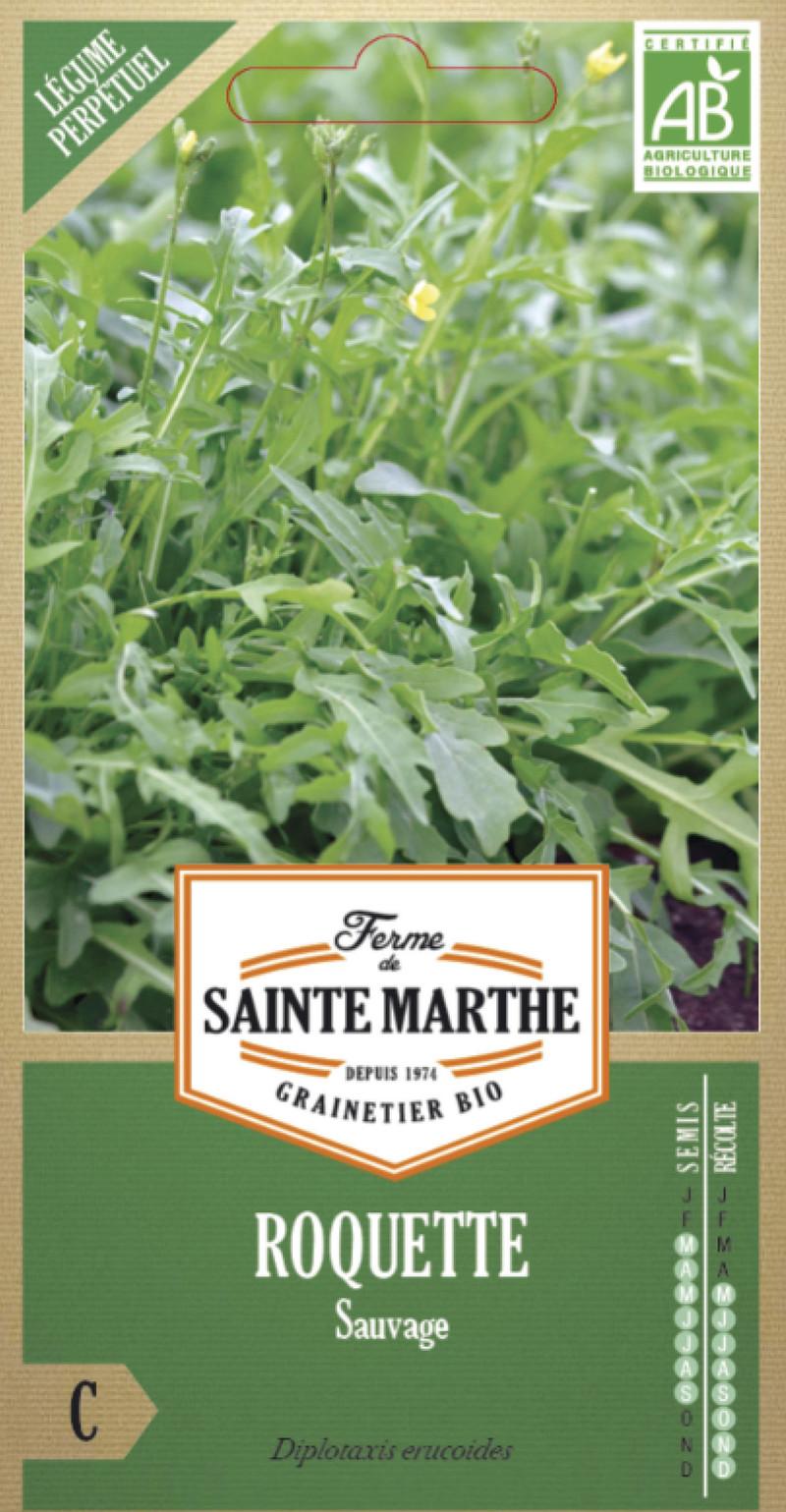 roquette sauvage bio la ferme de sainte marthe graine semence potager sachet semis - Voir en grand