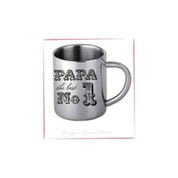 Mini mug en Inox brillant personnalisé.  Tasse extrêmement légère solide et incassable, idéale pour  - Voir en grand