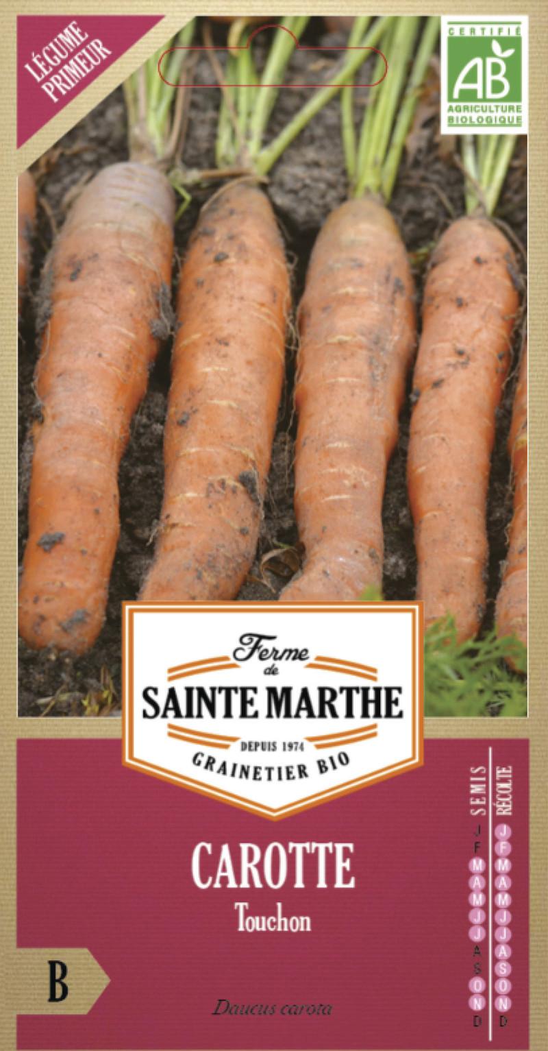 carotte touchon bio la ferme de sainte marthe graine semence potager sachet semis - Voir en grand