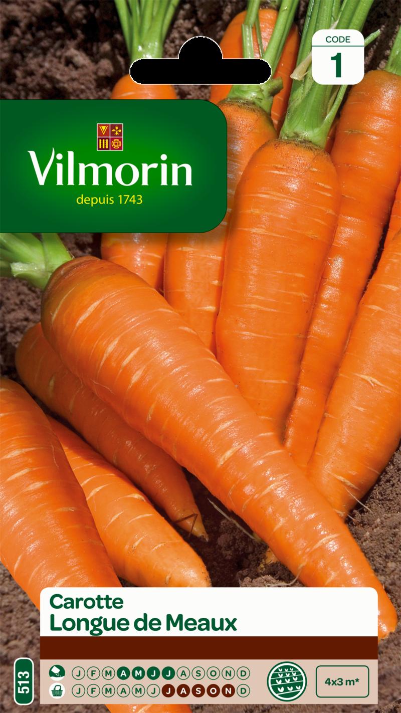 carotte longue de meaux vilmorin graine semence potager sachet semis - Voir en grand
