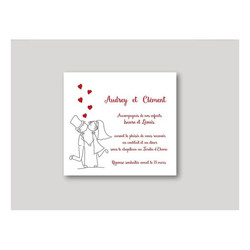 faire part mariage, carte mariage, carte invitation, imprimerie amalgame grenoble - Voir en grand