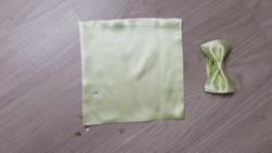 Noeud papillon vert en satin de soie signe edith Grenoble costume pour hommes - Voir en grand