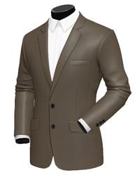 Costume homme à personnaliser soi même marron brillant