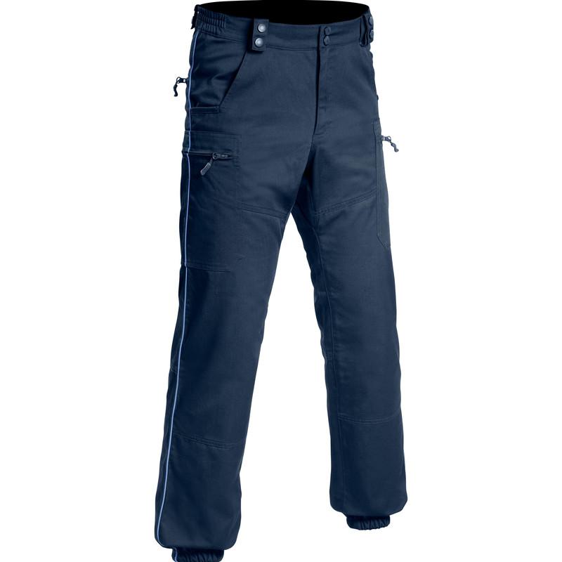pantalon swat pm treillis toe bleu 6 poches pas cher - Voir en grand