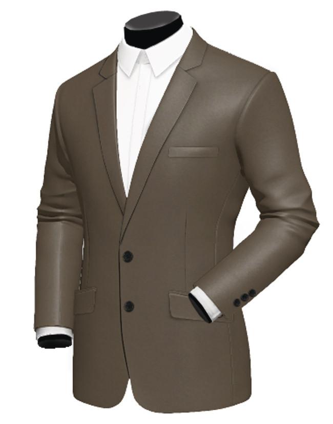 Costume homme personnalisé marron brillant terylene - Création Signé ... e303ee436c6