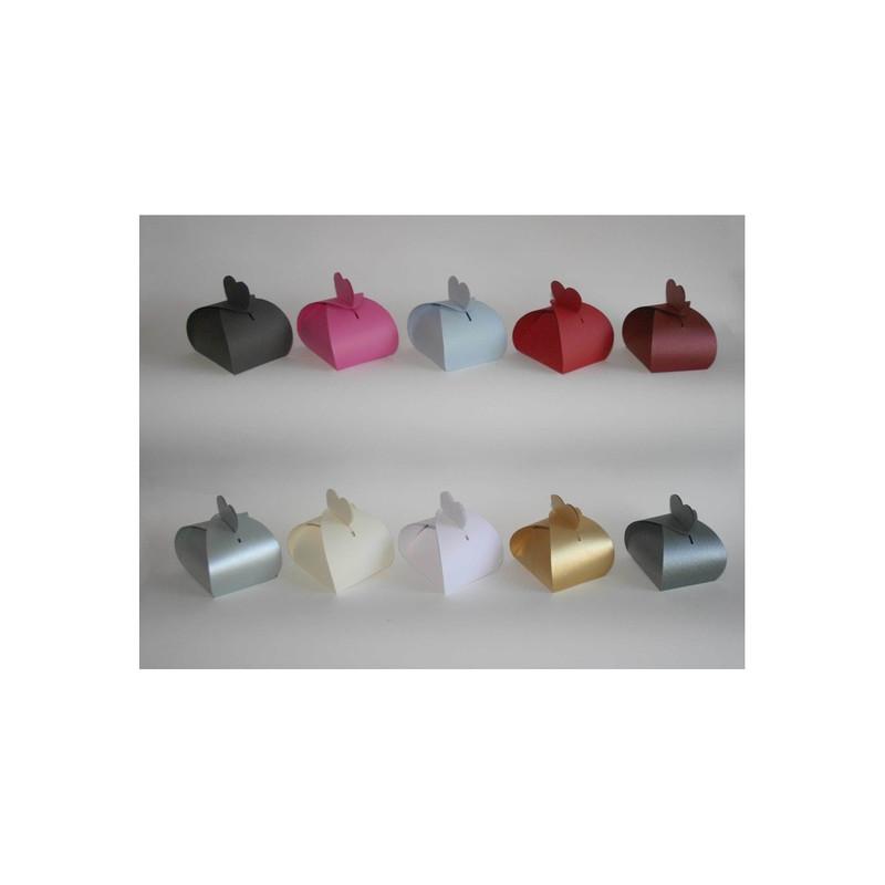 boite à dragées mariage personnalisé collection 10 couleurs, amalgame imprimeur graveur grenoble - Voir en grand