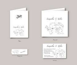 carte inviatation mariage design petit ourson amoureux, création exclusive - Voir en grand