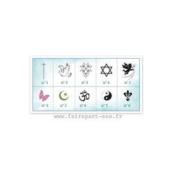 croix de religion, Art floral symbole et croyance, amalgame imprimeur grenoble - Voir en grand