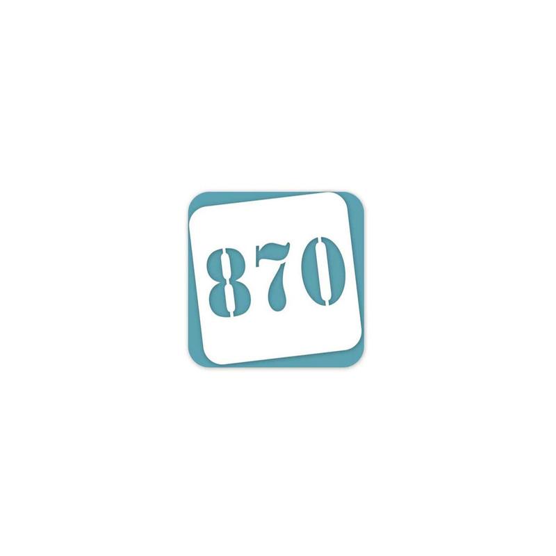 Pochoir numero Mylar réutilisable pour scrap, carton, bois, graveur amalgame grenoble  - Voir en grand