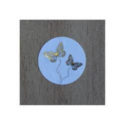 timbre de scellage papillons, pour fermer, cacheter vos enveloppes, amalgame print grenoble