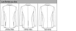 Les fentes dos pour les costumes personnalisés signé edith a grenoble