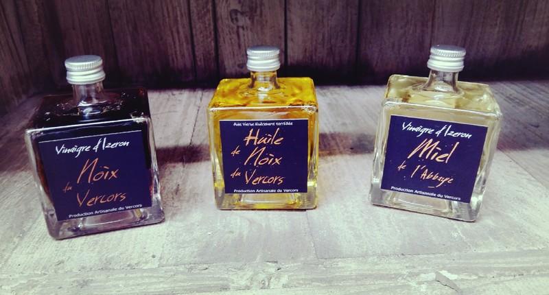trio huiles et vinaigres - Huiles et condiments - AUX GOUTS DU TERROIR - Voir en grand