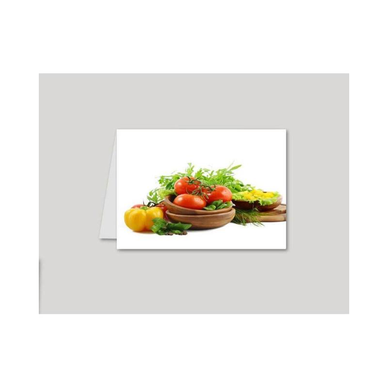 calendriers de poche personnalisé pour  restaurant, pizzeria,  beaux legumes, amalgame imprimerie gr - Voir en grand