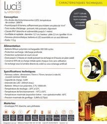 luci lux mpowerd lampe solaire gonflable caractéristiques techniques - Voir en grand