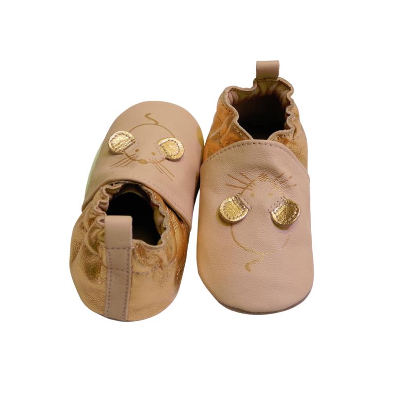 chausson en cuir souple ROBEEZ : My Mouse - Voir en grand