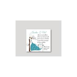 Faire part mariage turquoise, invitation moderne, diner,  Charlety, amalgame print grenoble