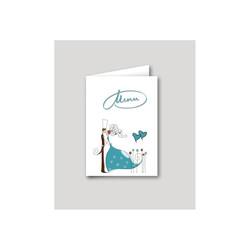 Faire part mariage turquoise, Menu moderne Charlety, amalgame print grenoble