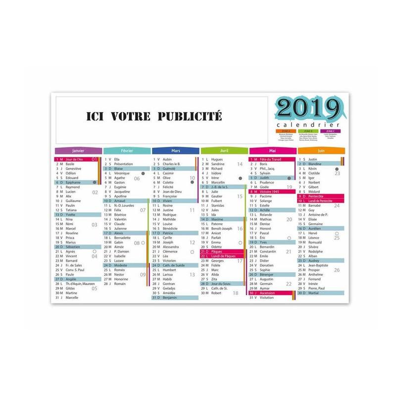 Calendrier Publicitaire 2019 Bancaire Gibraltar