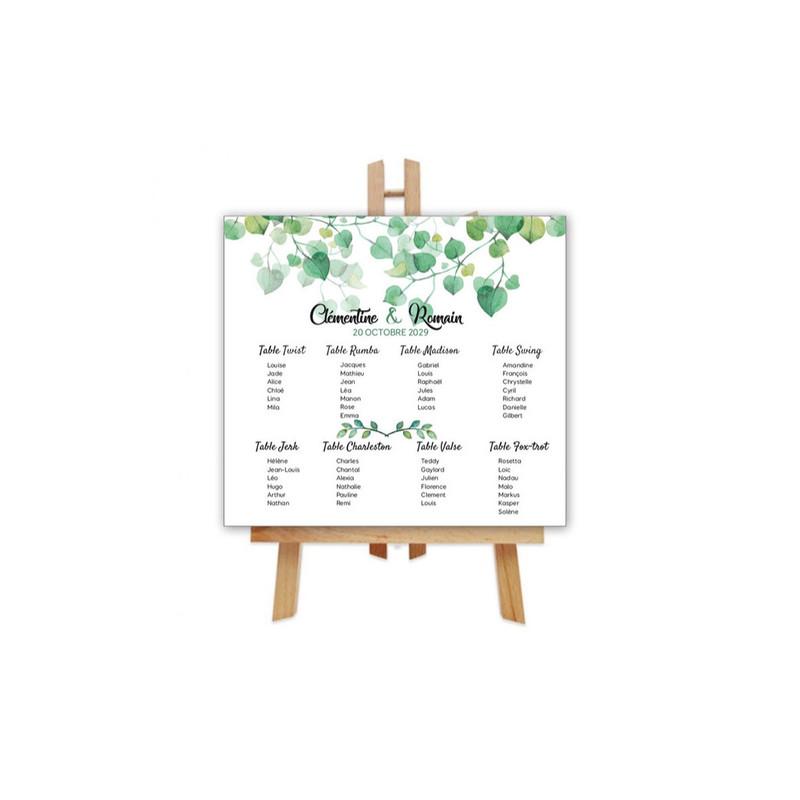 Plan de table invités 600x500mm panneau rigide, amalgame imprimeur grenoble - Voir en grand