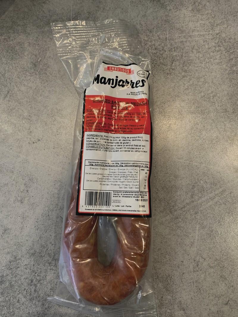 Chorizo piquant - CHARCUTERIE TRADITIONNELLE ESPAGNOLE - LA COCINA, Saveurs d'Espagne - Voir en grand