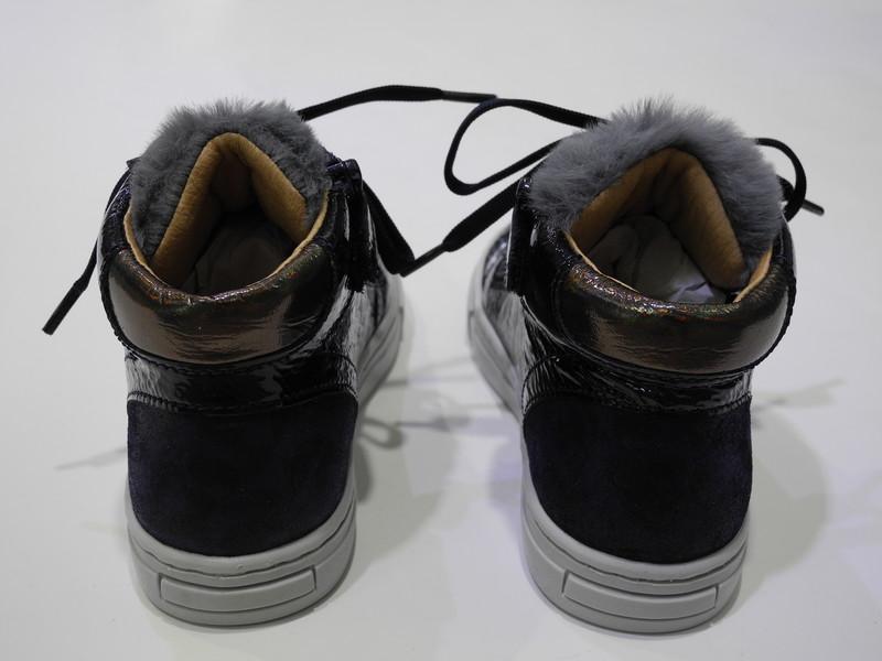 Chaussure montante marine  - Voir en grand