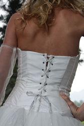 Robe de mariée modulable constellation détail dos - Voir en grand