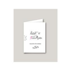 livret de messe mariage mariage Motards, mariés en motard, imprimerie amalgame  grenoble