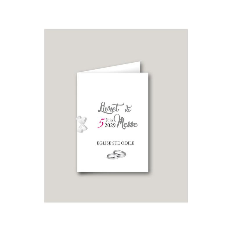 livret de messe mariage mariage Motards, mariés en motard, imprimerie amalgame  grenoble - Voir en grand