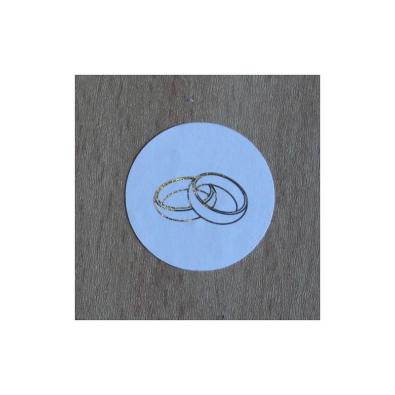 timbre de scellage 2 alliances, pour fermer, cacheter vos enveloppes, amalgame print grenoble - Voir en grand