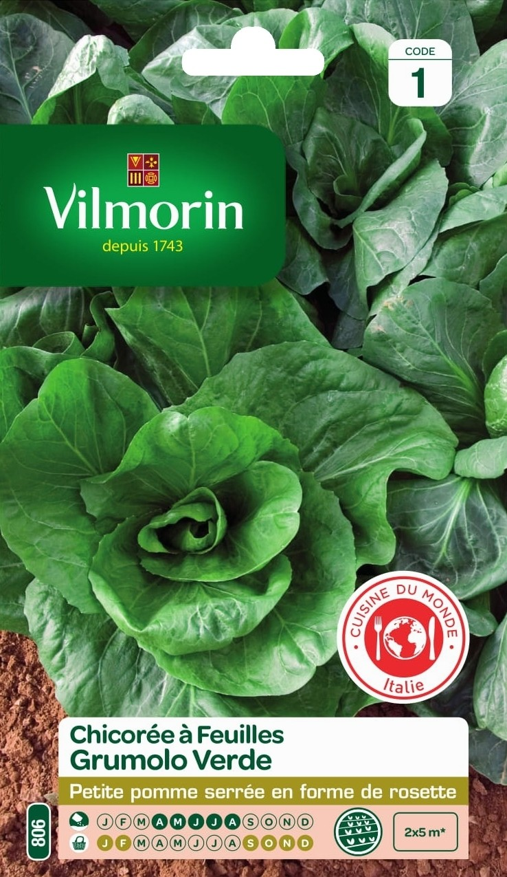 chicoree a feuilles grumolo verde vilmorin graine semence potager semis sachet - Voir en grand