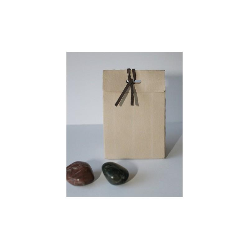Boite à dragée brun papier naturel, superbes arabesques, 1,70 ¤ - Voir en grand