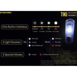 Minie Lampe Tiki Nitecore torche compacte porte clés rechargeable usb 300 lumens économie éclaira