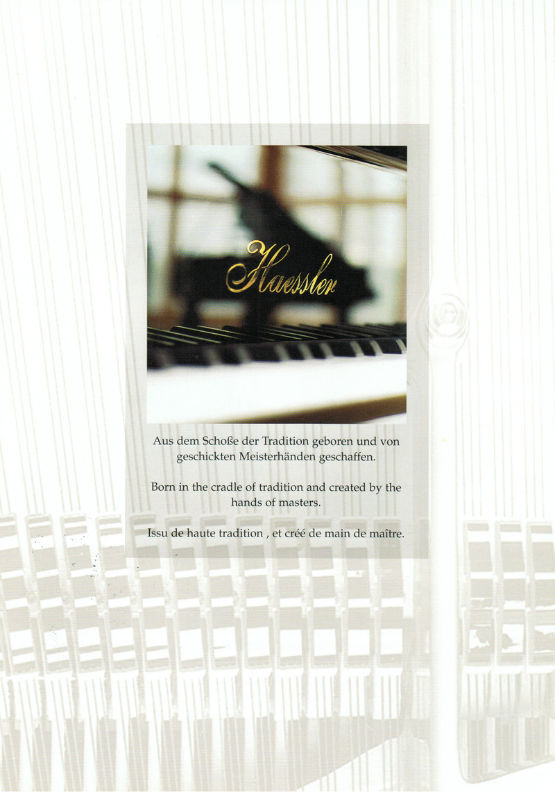 Vente piano droit et queue neuf HAESSLER  - Notre sélection de pianos neufs - ART & PIANO - Patrick BLERIOT - Voir en grand
