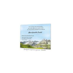 CARTE REMERCIEMENT DECES, la Vanoise Montagne, condoléances, imprimerie  amalgame grenoble - Voir en grand