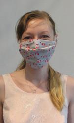 Masque barrière à plis en tissu lavable