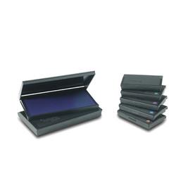 boite encreur de tampon, noir, bleu, rouge, vert, violet, amalgame graveur Grenoble - Voir en grand
