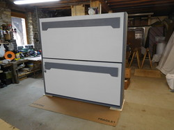 lit superposé escamotable en 90x190 gris et blanc - lit superposé escamotable - VERCORS LITERIE  - Voir en grand