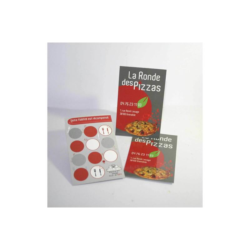 Ronde Des Pizzas Grenoble Carte De Visite Professionnelle Creation Graphique Amalgame Imprimeur