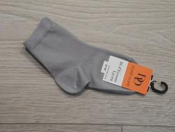 Chaussette fils décosse/lycra : gris - Voir en grand